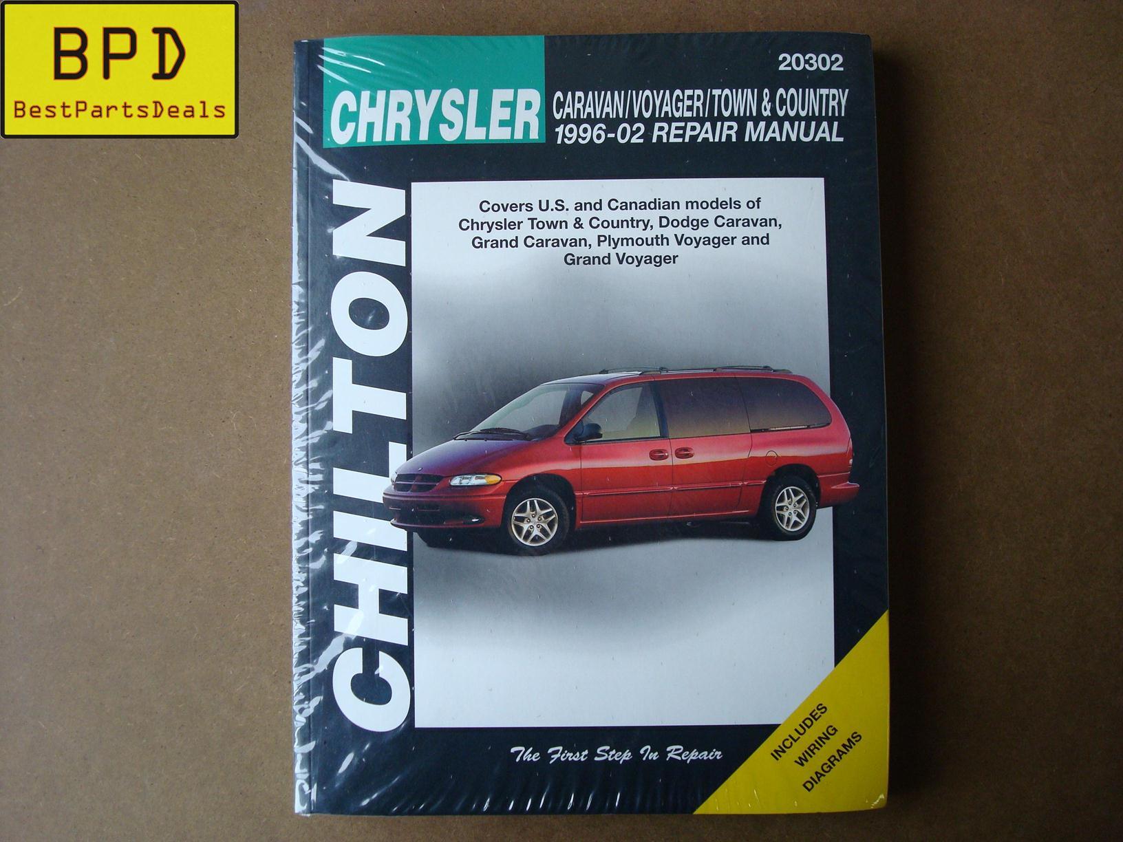 96 Plymouth Voyager Manual Wiring Diagram For 95 Chilton 02 Chrysler Caravan Town Country Repair Rh Ebay Com 92