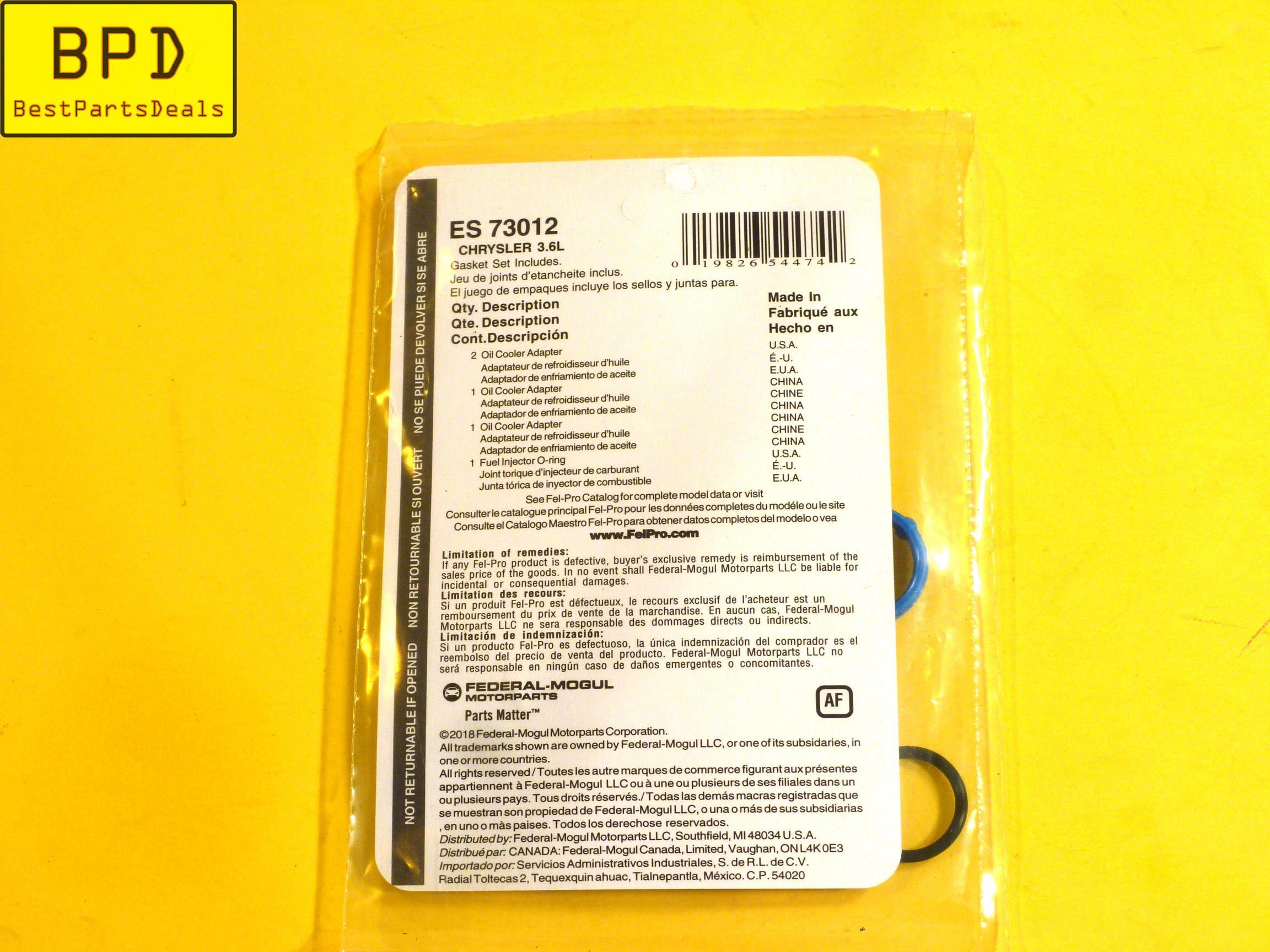 Fel-Pro ES 73012 Oil Cooler Gasket