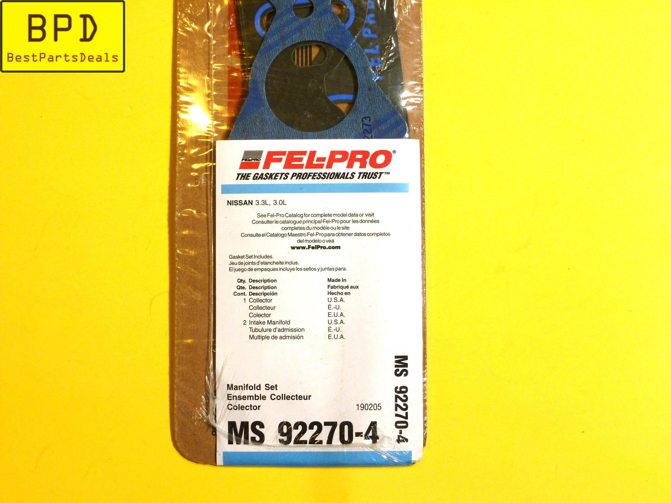 Fel-Pro MS 96696 Intake Manifold Gasket Set FelPro MS96696 Engine Sealing ox